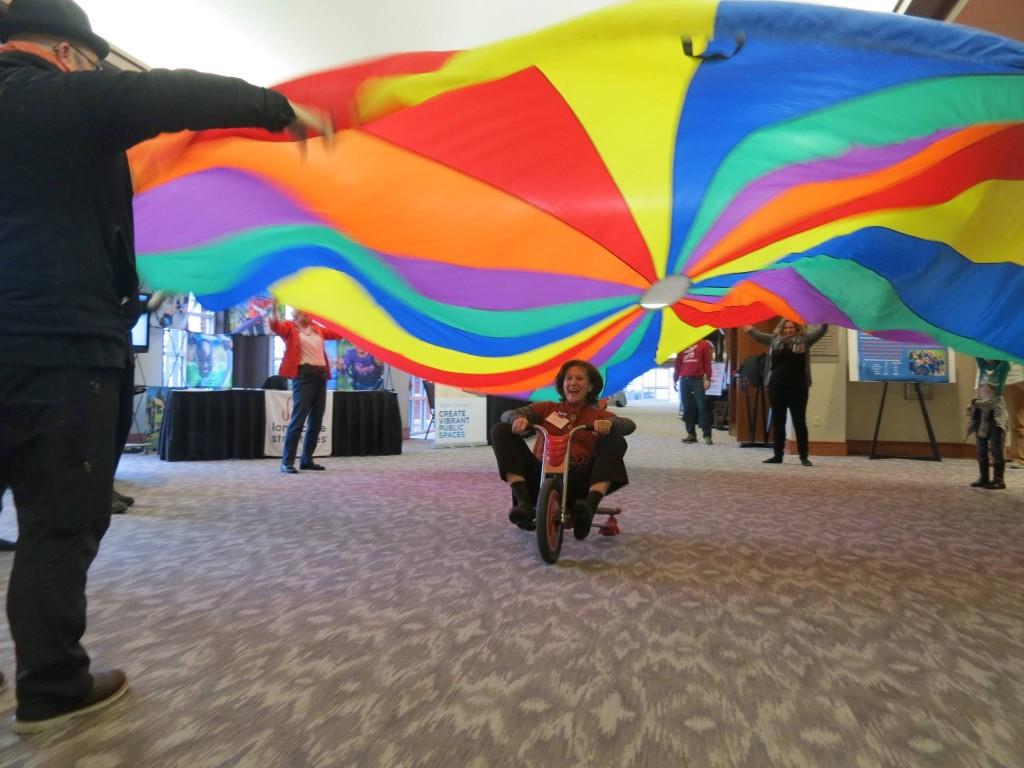 a GIANT parachute