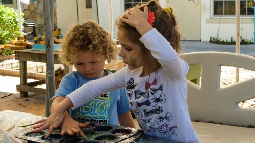 Give them time (a story of watercolors and preschooler theoretical physics)