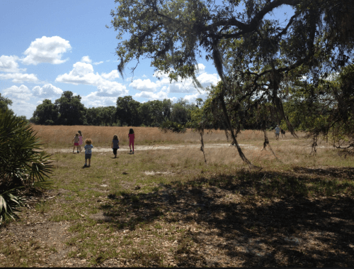 Exploring with friends at Lake Kissimmee State Park